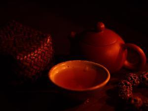 烛光品茶茶图欣赏