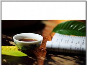 精美秋夜品茶图片